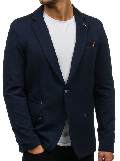 Tmavě modré pánské elegantní sako Bolf 606F