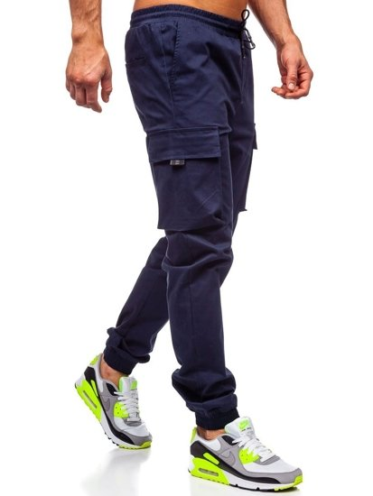 Tmavě modré pánské jogger kapsáče Bolf 701