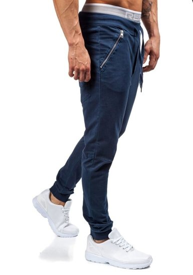 Tmavě modré pánské tepláky jogger Bolf 2652