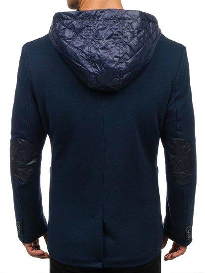 Tmavě modrý pánský kabát Bolf 2920