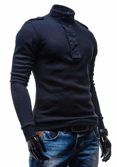Tmavě modrý pánský svetr Bolf 1132