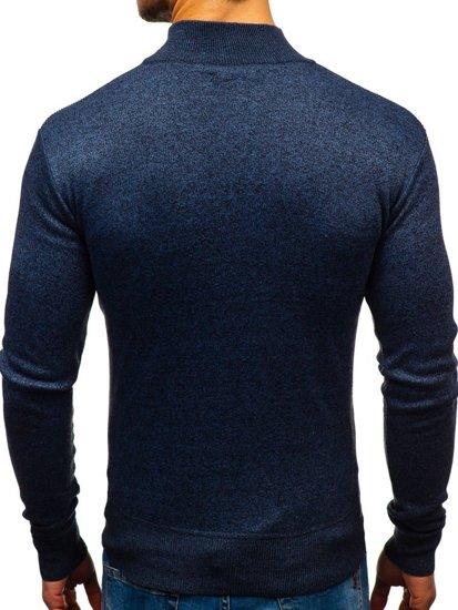 Tmavě modrý pánský svetr Bolf BM6113