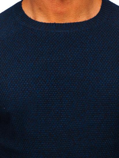Tmavě modrý pánský svetr Bolf H1810