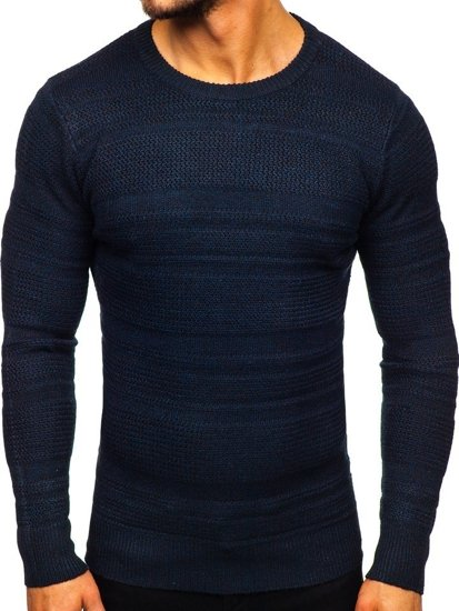 Tmavě modrý pánský svetr Bolf H1926