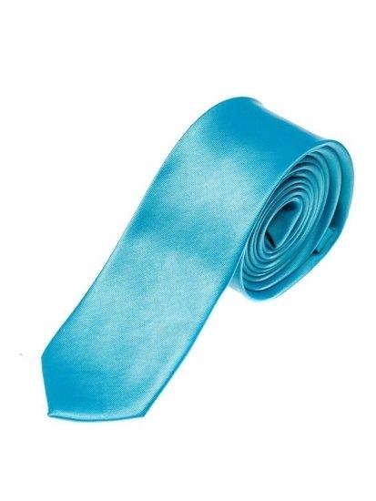 Tyrkysová pánská elegantní kravata Bolf K001