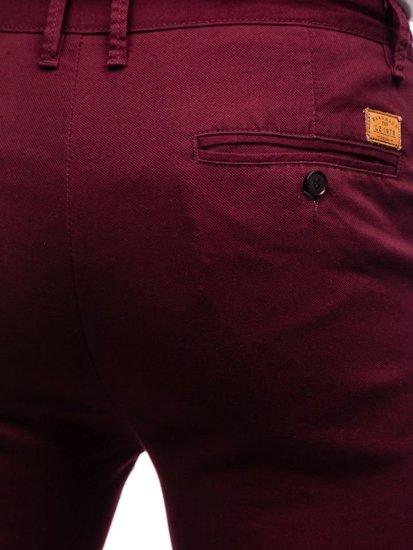 Vínové pánské chino kalhoty Bolf KA969