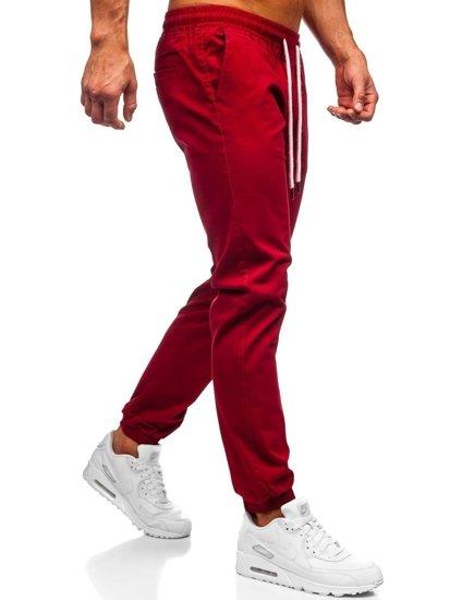 Vínové pánské jogger kalhoty Bolf 1145