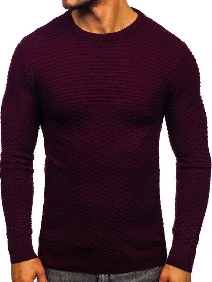 Vínový pánský svetr Bolf 319