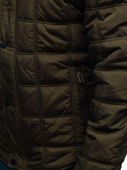 Zelená pánská zimní bunda Bolf 1820