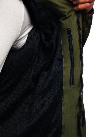Zelená pánská zimní bunda Bolf HZ8102