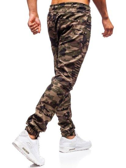 Zelené pánské tepláky jogger Bolf 0829