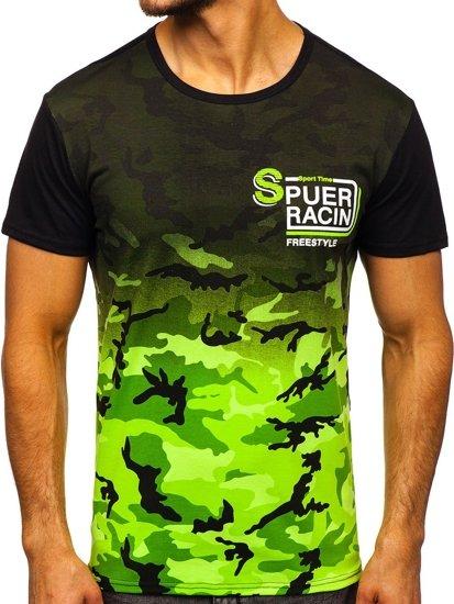 Zelené pánské tričko s potiskem Bolf SS11085