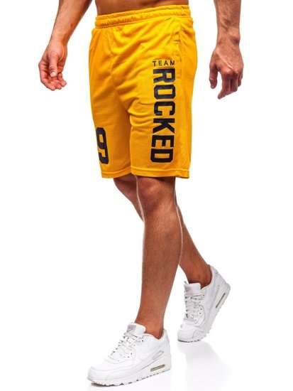 Žlutá pánská sada tričko + kraťasy Bolf 100780
