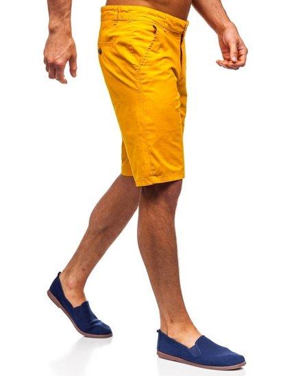 Žluté pánské kraťasy Bolf 1140