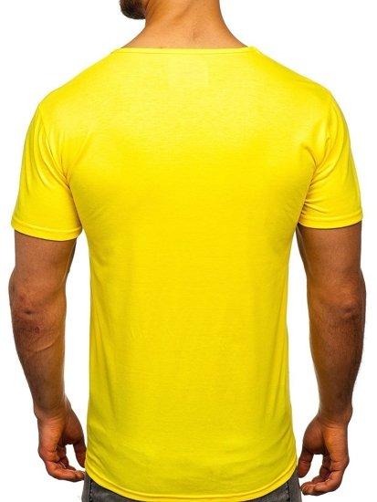 Žluté pánské tričko s potiskem Bolf KS1971