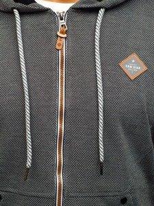 Antracitová pánská mikina s kapucí Bolf 3610