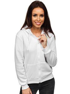 Bílá dámská mikina s kapucí Bolf WB1005