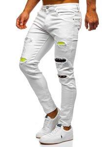 Bílé pánské džíny skinny fit Bolf KA1871-12
