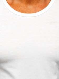 Bílé pánské tílko bez potisku Bolf 99001