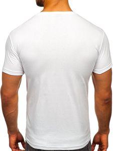 Bílé pánské tričko s potiskem Bolf 001