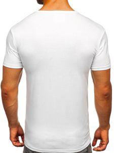 Bílé pánské tričko s potiskem Bolf 10875