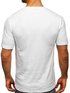 Bílé pánské tričko s potiskem Bolf 6306