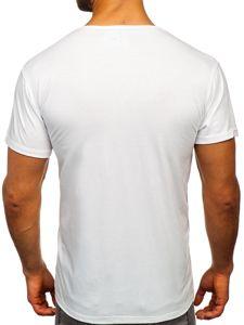 Bílé pánské tričko s potiskem Bolf KS1966