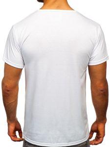 Bílé pánské tričko s potiskem Bolf KS1995