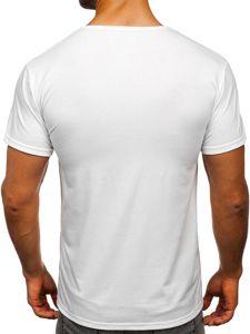 Bílé pánské tričko s potiskem Bolf KS1998