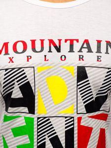 Bílé pánské tričko s potiskem Bolf KS2012