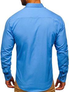 Blankytná pánská elegantní košile s dlouhým rukávem Bolf 7720