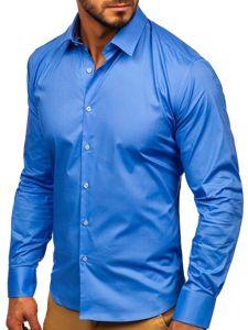 Blankytná pánská elegantní košile s dlouhým rukávem Bolf TS50