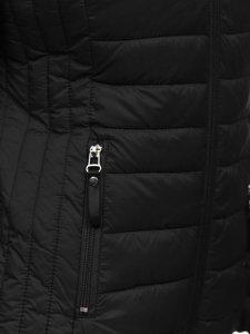 Černá dámská prošívaná přechodová bunda Bolf B0101