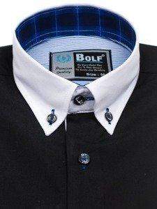Černá pánská elegantní košile s dlouhým rukávem Bolf 5766-1
