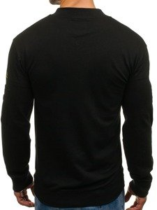 Černá pánská mikina bez kapuce Bolf 0733