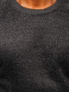 Černá pánská mikina bez kapuce Bolf 2001-1