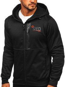 Černá pánská mikina na zip s kapucí Bolf 80502