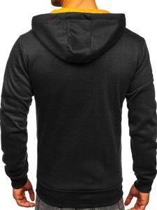 Černá pánská mikina na zip s kapucí Bolf YD88026