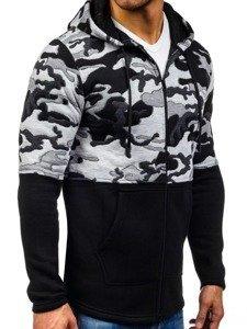 Černá pánská mikina s kapucí Bolf 9109
