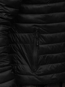 Černá pánská prošívaná přechodová bunda Bolf LY35