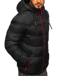 Černá pánská prošívaná sportovní zimní bunda Bolf 50A156
