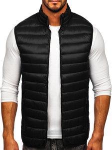 Černá pánská prošívaná vesta bez kapuce Bolf LY32