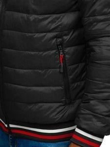 Černá pánská sportovní zimní bunda Bolf LY1009