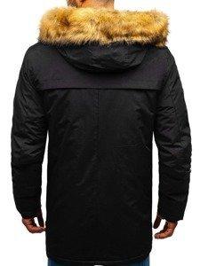 Černá pánská zimní parka Bolf R105