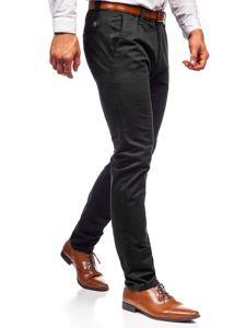 Černé pánské chino kalhoty Bolf KA6807
