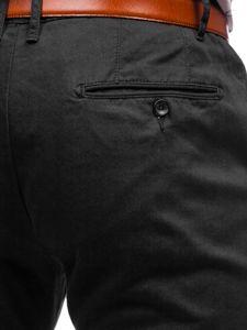 Černé pánské chino kalhoty Bolf KA968