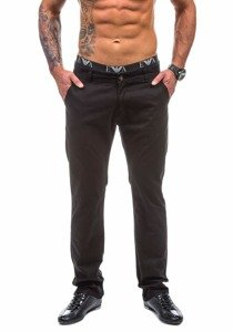 Černé pánské chinos kalhoty Bolf 570