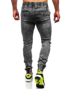 Černé pánské džínové jogger kahoty Bolf KA1322-1
