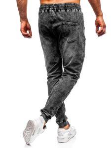 Černé pánské džínové jogger kalhoty Bolf KK1055
