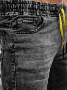 Černé pánské džínové jogger kapsáče Bolf HY689